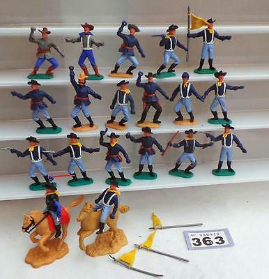 LV363 Vintage plastic Timpo Swoppet ACW and 7th Cavalry troops job lot