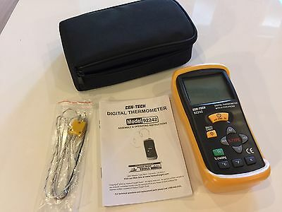 Cen-Tech Thermocouple Thermometer 92242 With K-Type Probe