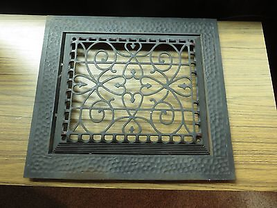 Vintage Ornate Cast Iron Floor Grate Vent