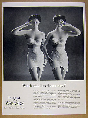 1954 Warner's LeGant Girdle Merry Widow Strapless Bra photo vintage print Ad