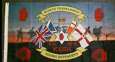 North Fermanagh Young Defenders Flute Band Flag Ulster Memorabilia