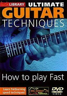 Ultimate Guitar Techniques: How to Play Fast - DVD Region 2 Free Shipping!