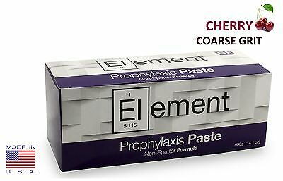 ELEMENT Prophy Paste Cups CHERRY COARSE 200/Box  Dental Non-Splatter W/Flouride