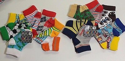 14 PAIR Toddler Boys' Socks Lot DAYS OF THE WEEK Size 18-36 Months