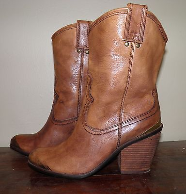 Lucky Brand Elle Brown Western Boot Women's Size 8.5