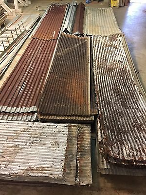 12 Antique Reclaimed Rusty SMALL Corrugated Metal Roof Panels