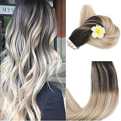 FULL SHINE TAPE in Human Hair Extensions Balayage Ombre Highlights Remy  Hair 50g