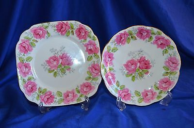 Lady Alexandra Rose, Saucer and Side Plate - Bell China Made in England
