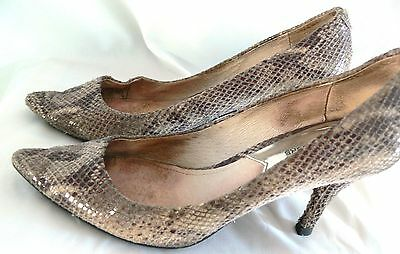 Michael Michael Kors Pump Shoes Women Pointed Toe Leather Heels Sz 6.5M