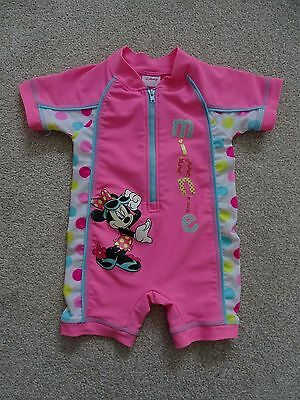 Disney Minnie Mouse UV Protection Sunsafe Swimsuit from Matalan Age 9-12 Months