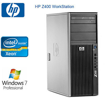 HP Z400 Workstation 4 CORES Xeon 12GB RAM Win 7 pro 500G HDD video card