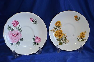 2 Royal Vale Saucer mix Plates