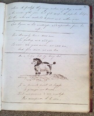 c1821 - Miss Walpole' s Commonplace Book, Verses, Drawings.