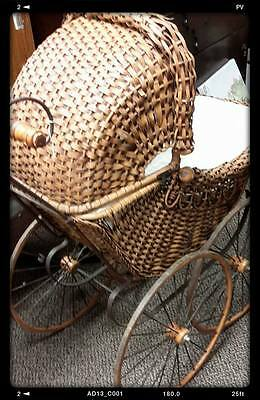 Antique Wicker Baby Carriage/Buggy-Local CT pickup only