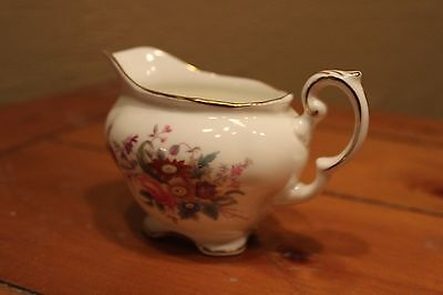 Vintage Coalport JUNETIME Bone China Creamer pitcher  gold trim Made in England