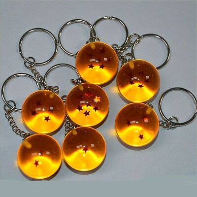 Anime Dragon Ball Z Ball 7 Stars Keychain Keyring Pendant Decoration Gift