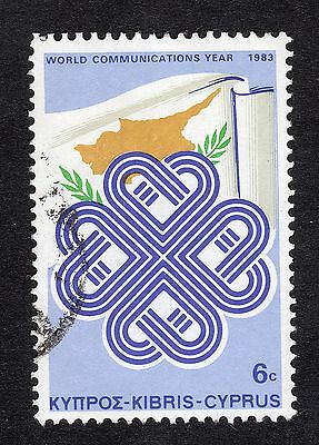 1983 Cyprus 6c World Communications Year FINE USED R20878