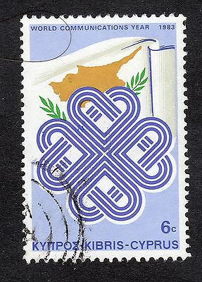 1983 Cyprus 6c World Communications Year FINE USED R20874