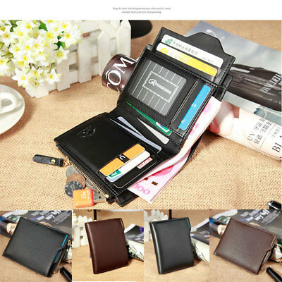 Men Bifold PU Leather Wallet ID Credit Card Holder Coin Money Clip Purse Fashion