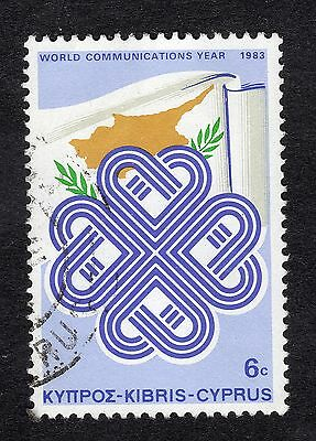 1983 Cyprus 6c World Communications Year FINE USED R20883