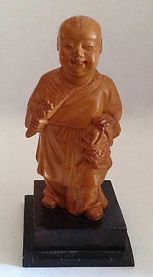 Small Vintage Chinese Carved Boxwood Figure Cultural Revolution-Nice!!!