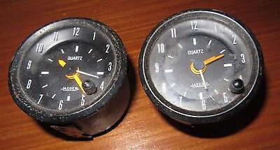 2 Montre de Bord JAEGER instrument pour aviation ou rally French Aircraft Clock