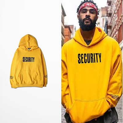 Men's Winter Yellow Hoodie Hooded Coats Outwear Sweater Sweatshirt Jumper Tops