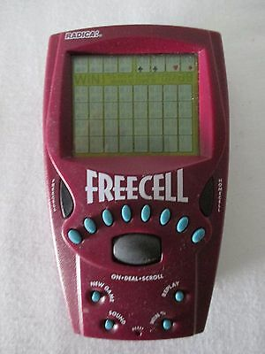 Electronic Handheld Radica Freecell Solitaire Card Game + Batteries Euc Free Sh