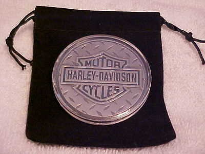 Great Gift Idea Harley Davidson Coin 1 1/2 oz With Protective Case & Gift Bag