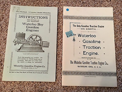 Waterloo Boy Tractor and Gas Engine Manual John Deere Hit Miss Stationary A B D