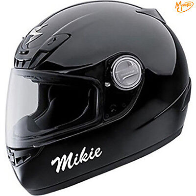2 x REFLECTIVE CUSTOME PERSONALISED MOTORCYCLE HELMET NAME STICKERS BEST GIFTS