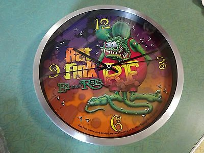 Matco Tool Rat Fink Round Clock Ed Big Daddy Roth Brand New Never Used