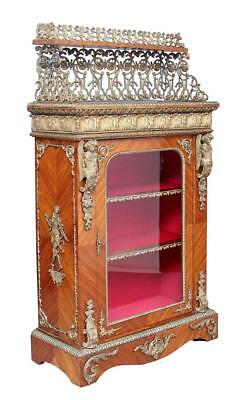Stunning 19Th Century Kingwood And Ormolu French Cabinet