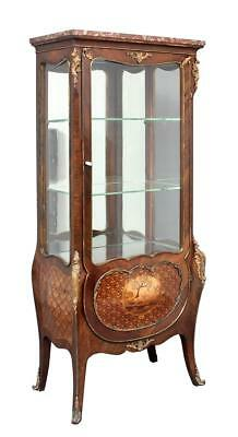 19Th Century French Rosewood Display Cabinet