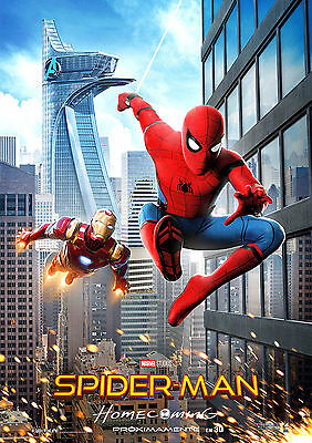Spiderman Poster New Movie HOMECOMING 2017 Marvel Film FREE P+P CHOOSE YOUR SIZE