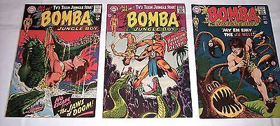 Lot of 3 BOMBA THE JUNGLE BOY #1, 2 and 3. 1967