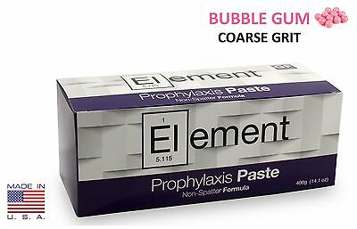 Element Prophy Paste Cups BUBBLE GUM COARSE 200/Box  Dental NonSplatter Flouride