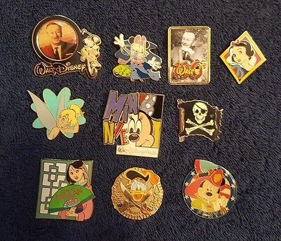 Disney Pin Trading/Collectible Lot of 10 Assorted Pins - No Doubles