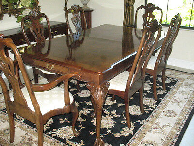 Henredon Rittenhouse Mahogany Dining Table Chippendale Ball