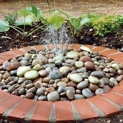 Solar Powered Pebble Fountain Water Feature Kit with LED Light