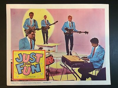 """11"""" x 14""""  """"JUST FOR FUN"""" 1963 LOBBY CARD MOVIE THEATER PROMO"""
