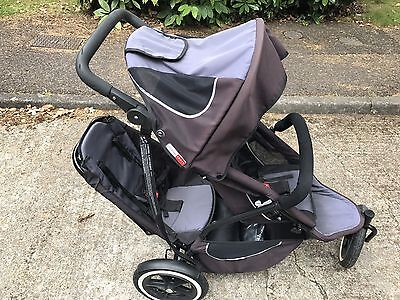 Phil And Teds Sport Double Pushchair With Accessories