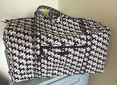 Vera Bradley Large Duffel  SCOTTIE DOGS Luggage Black NWT