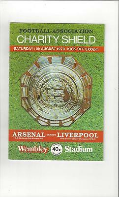 Arsenal v Liverpool Charity Shield Football Programme 1979