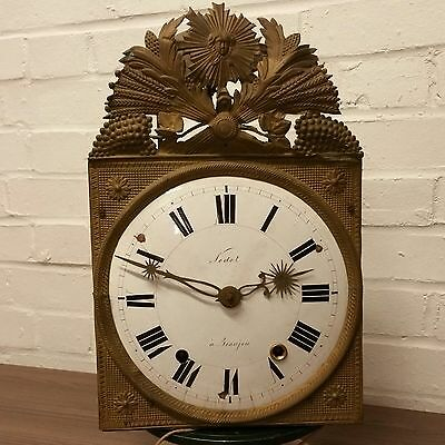 Comtoise Morbier Movement French Grand-father clock dating 1840 Sunburst Decor