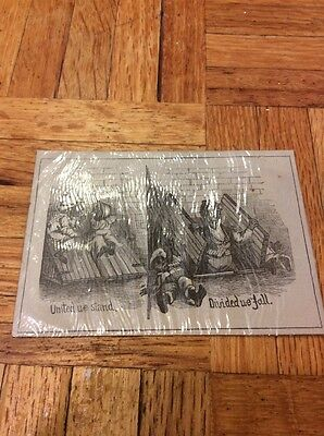 Vintage Card lack Americana United We Stand Divided We Fall Wow