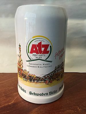 New Cannstatter Wasen 1L Ceramic/Stoneware German Beer Mug