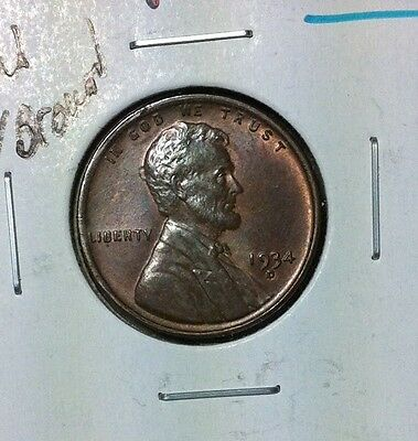 """1934-D Lincoln Wheat Cent ~Ch/bu Red/brown """"doubled Mintmark Error Coin"""
