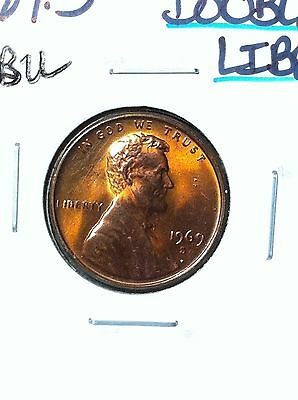 1969-S Lincoln Cent ~ Gem Bu Doubled Liberty Error Coin
