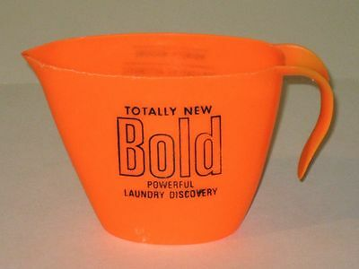 Vintage BOLD Laundry Detergent MEASURING CUP! Procter & Gamble Advertising!